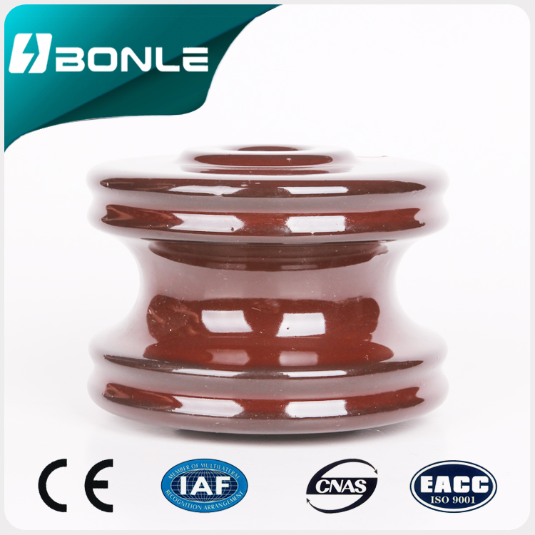 Porcelain spool insulator 53-4 for low voltage transmission line